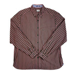 Load image into Gallery viewer, Lacoste Pink/Brown Striped Button-down Shirt