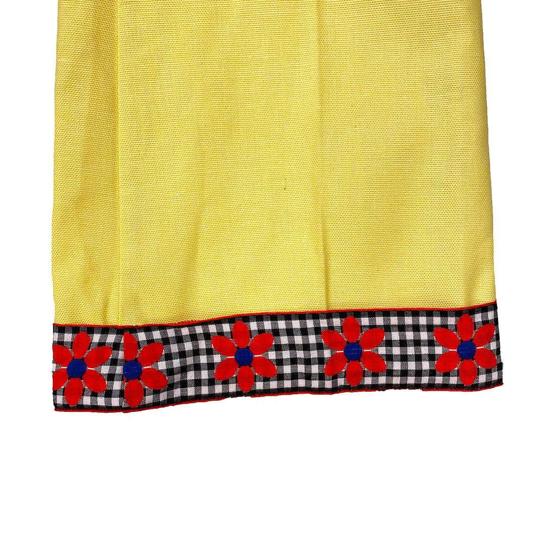 Yellow 70's Wide Leg Flare Pants