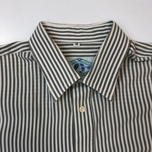 Graphic Language Grey & White Striped Shirt