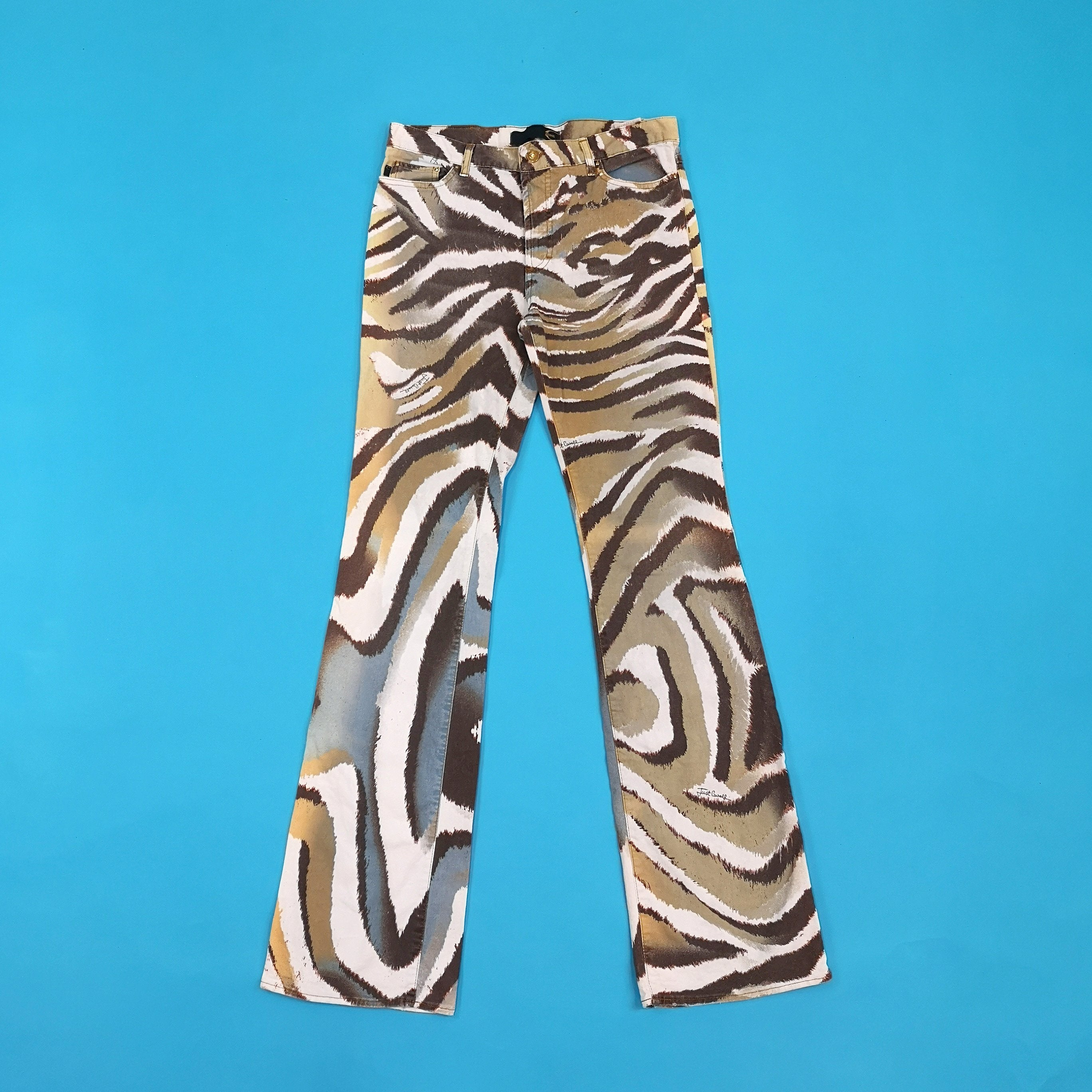 Just Cavalli Flared Animal Print Pants