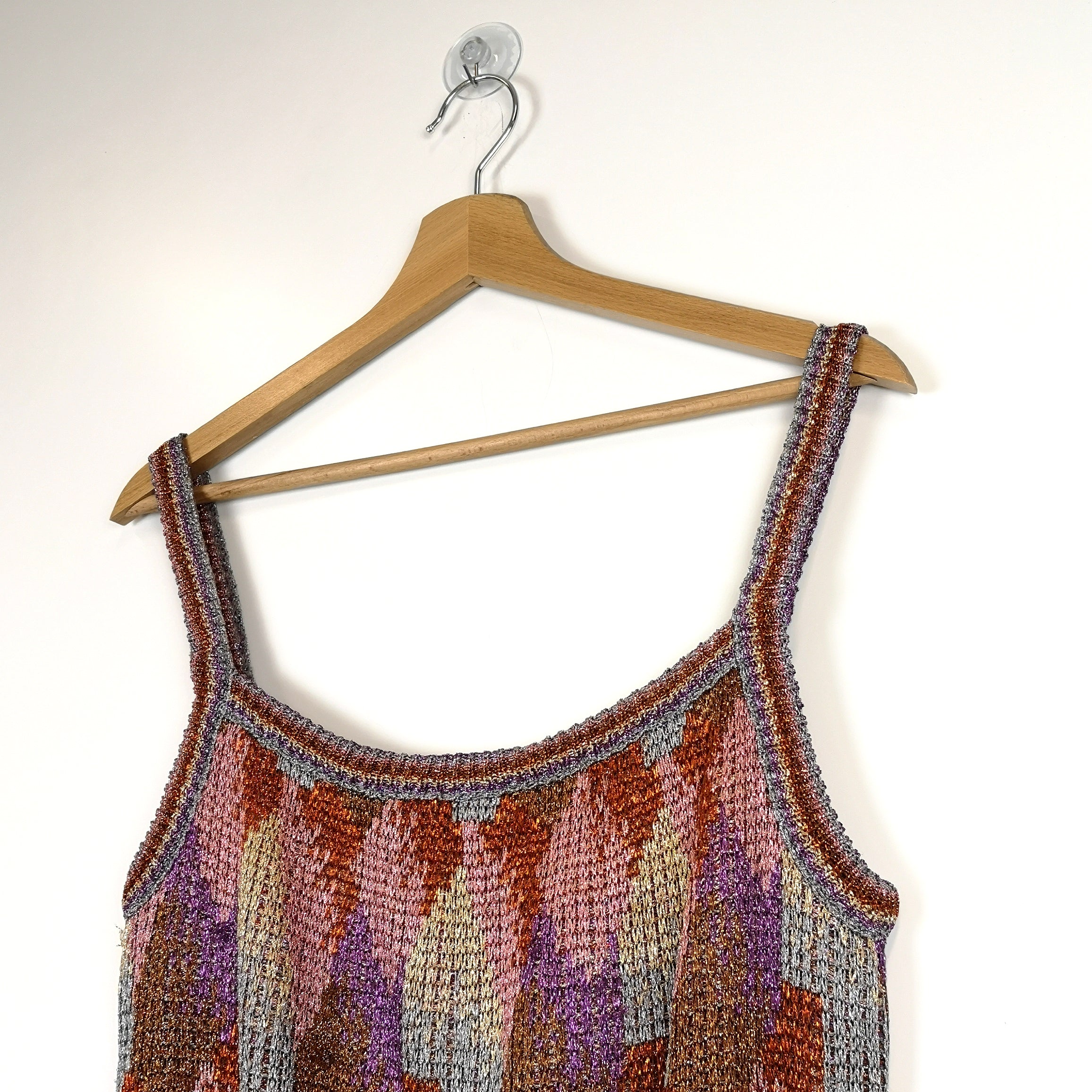 Missoni 70s Sparkly Knit Tank Top