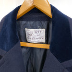 Load image into Gallery viewer, Wool and Cashmere Navy Coat
