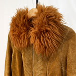 Load image into Gallery viewer, Brown Lammy Coat With Embroidery