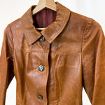Load image into Gallery viewer, Brown Leather Coat