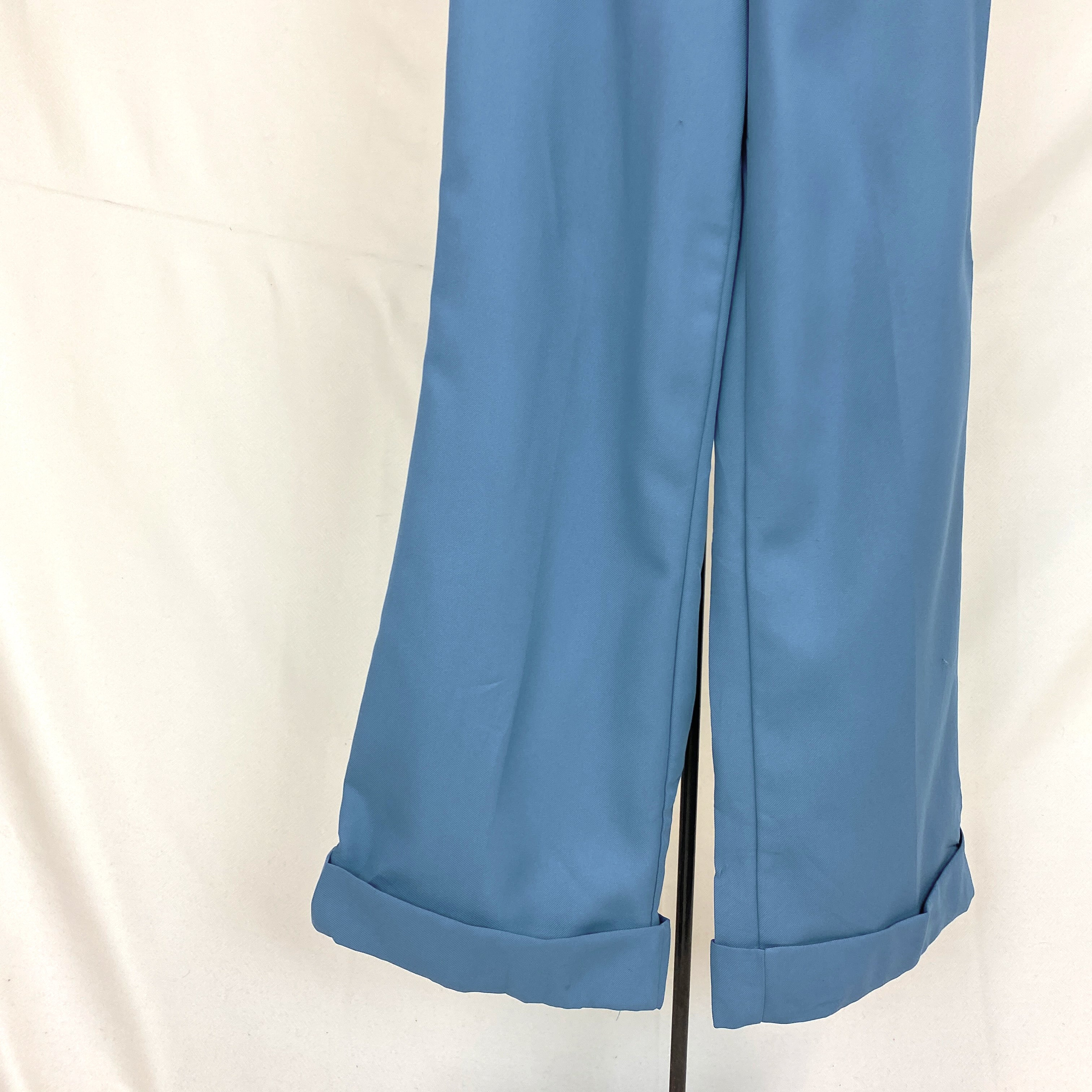 Blue Flared 70s Pants