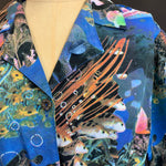 Load image into Gallery viewer, Aquarium Print Blouse