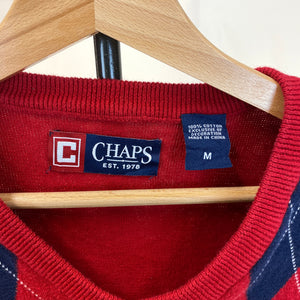 Chaps Red Argyle Spencer
