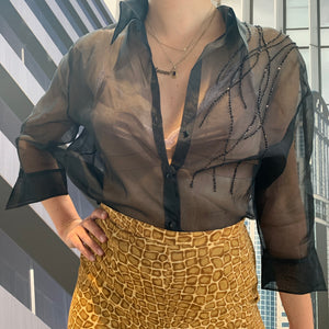 Per Te by Krizia Silk See-Through Blouse