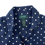 Load image into Gallery viewer, Lauren by Ralph Lauren Polka Dot Sleeveless Shirt