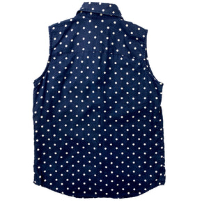 Lauren by Ralph Lauren Polka Dot Sleeveless Shirt