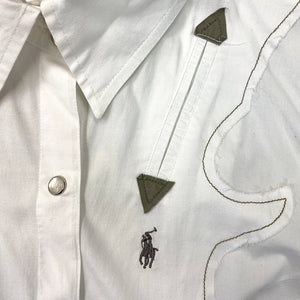 Polo by Ralph Lauren White Button-up Vest