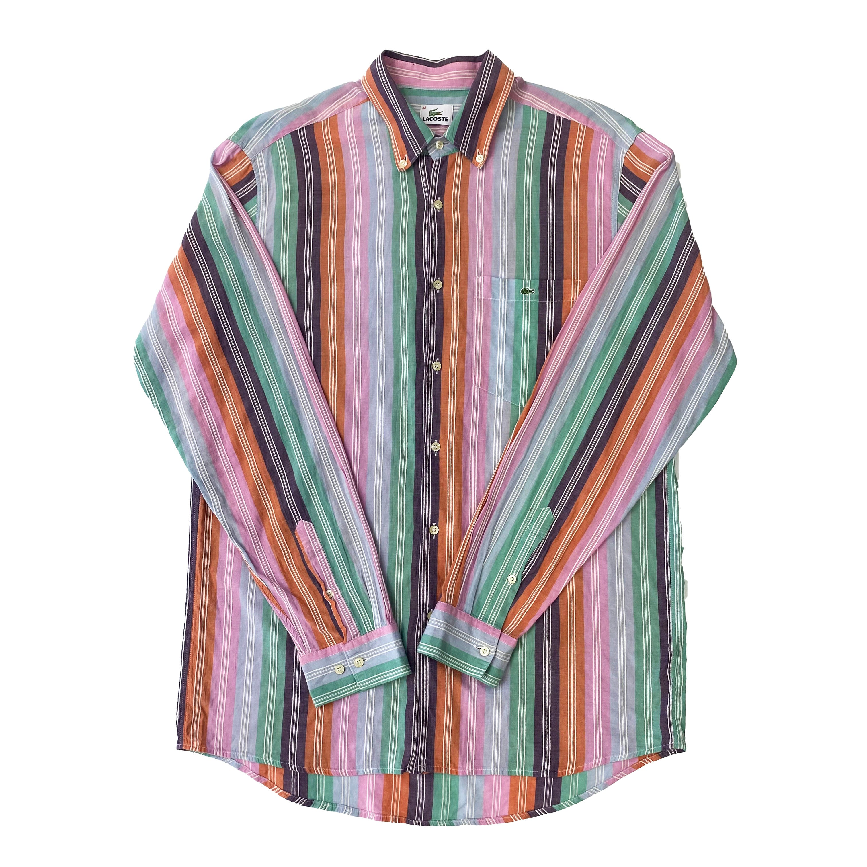 Lacoste Striped Button-down Shirt