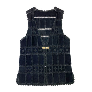 Leather Patchwork Crochet Detailled Tunic/Dress
