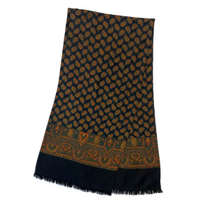 Black Multi-colour Scarf with Paisley Pattern