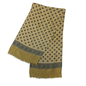 Beige Scarf with Neutral Scheme Pattern