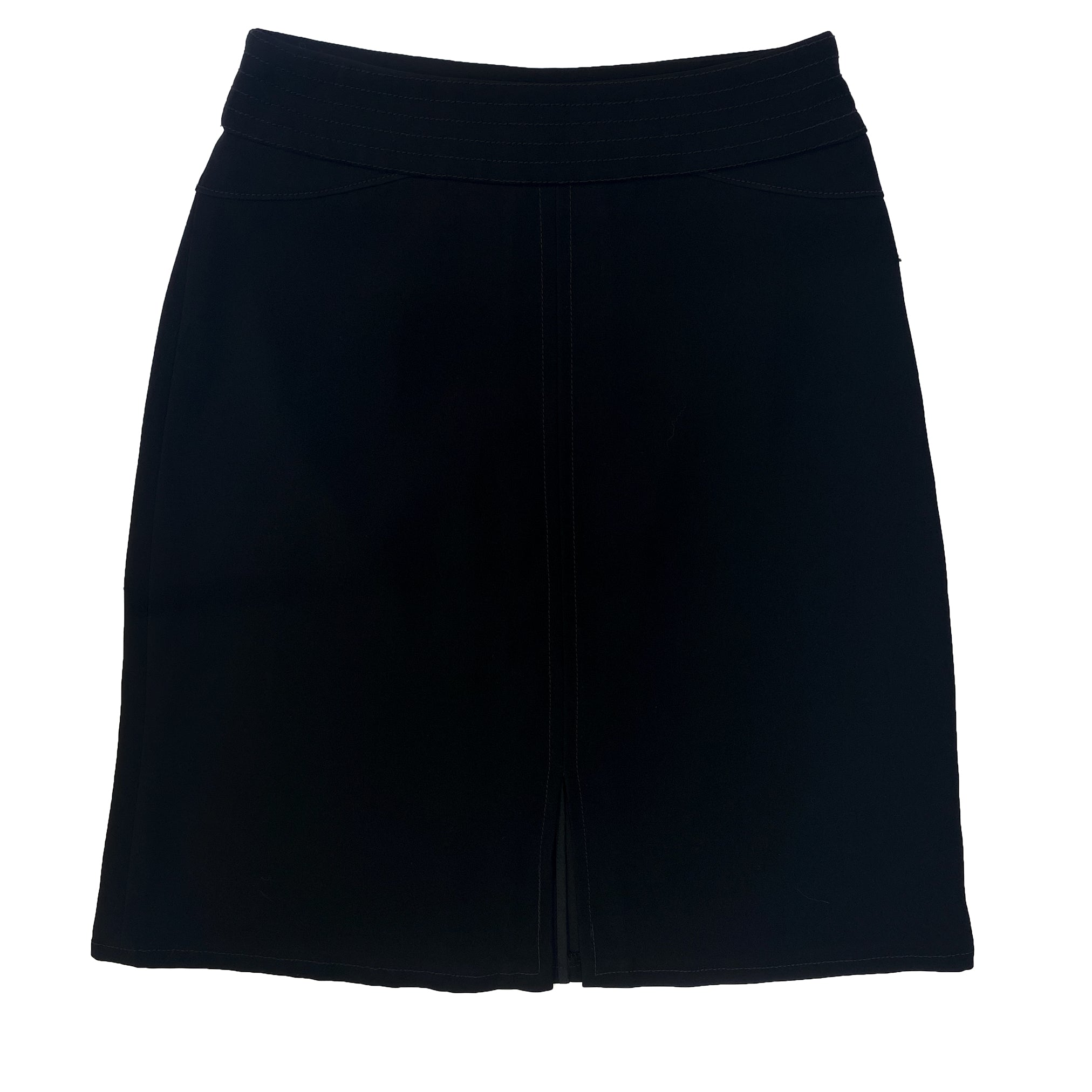 Louis Vuitton Black A-Line Skirt