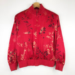 Load image into Gallery viewer, Red Silk Bomber Jacket