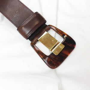 Brown Belt With Special Buckle