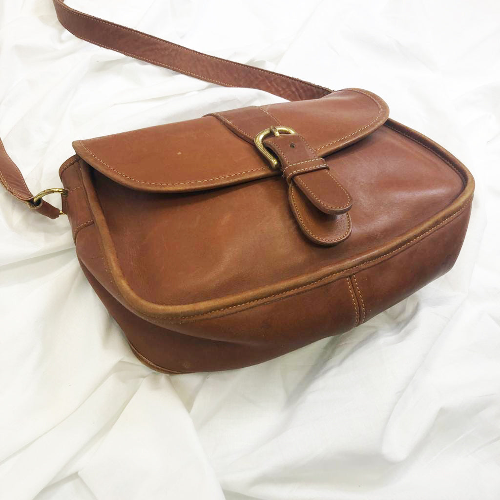 Brown Leather Bag By Coach
