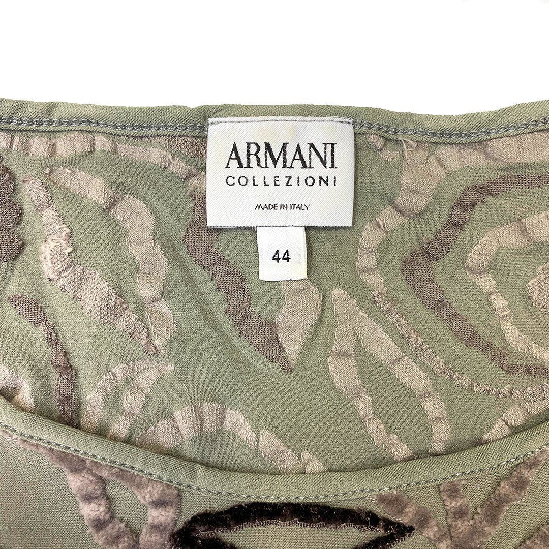 Giorgio Armani Fitted Olive Green T-Shirt