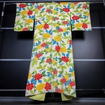Load image into Gallery viewer, White Silky Kimono with Colorful Floral Prints