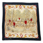Load image into Gallery viewer, Black Beige Red Silky Printed Scarf