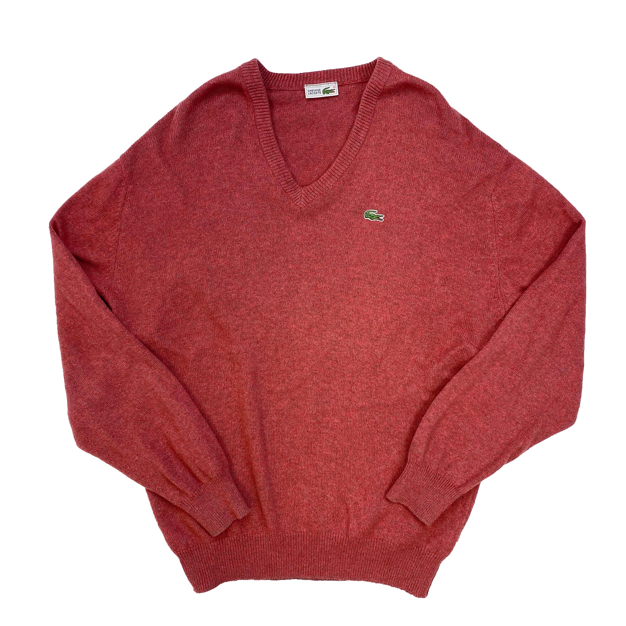 Chemise Lacoste Coral Red Wool Knitted Vintage Jumper