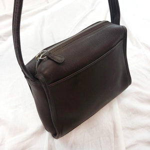 Coach Brown Leather Shoulder Bg