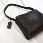 Load image into Gallery viewer, Coach Brown Leather Shoulder Bg