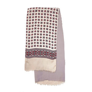 Pink Patterned Scarf