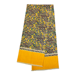 Yellow Multi-colour Scarf with Pattern