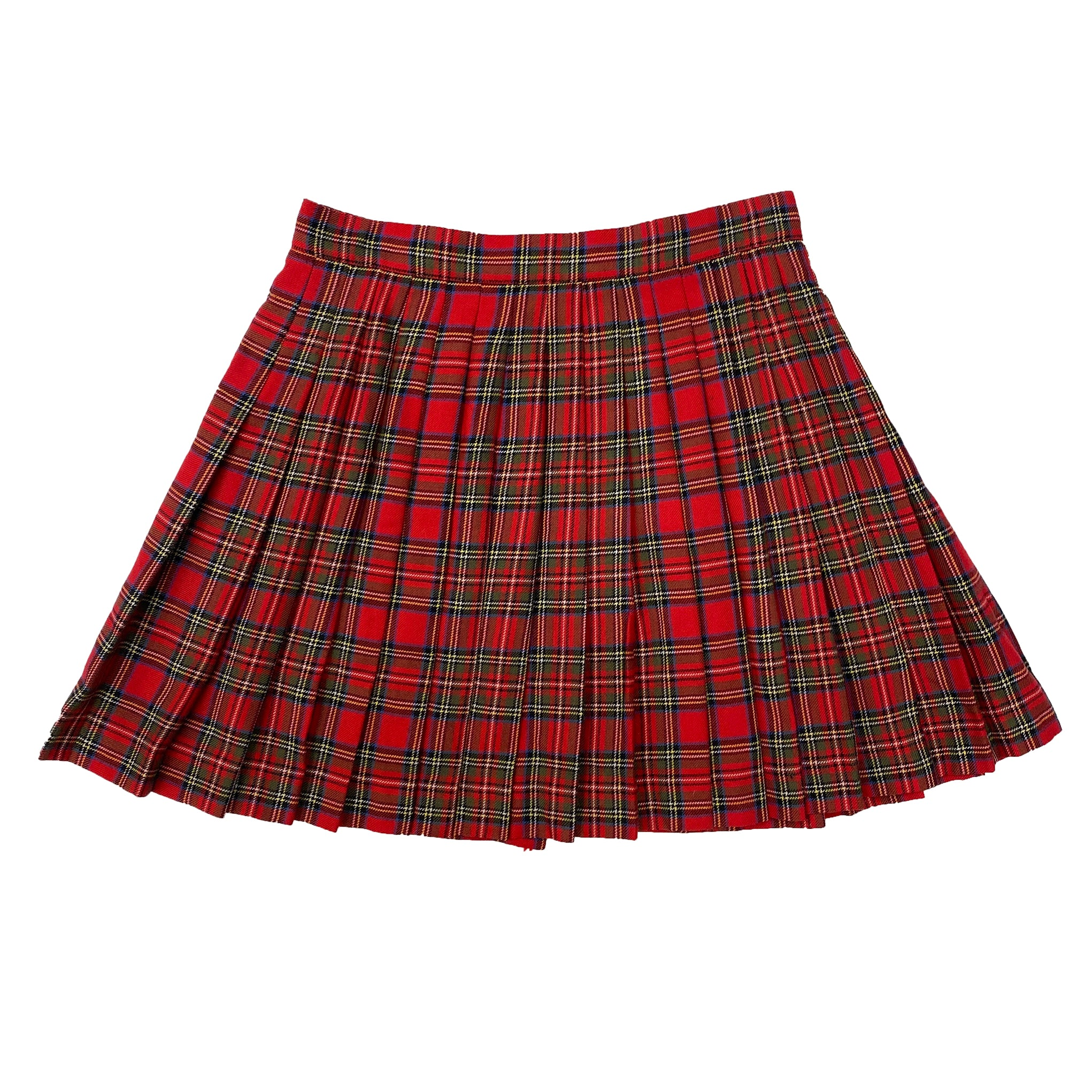 Max&Co Pleated Red Mini Skirt