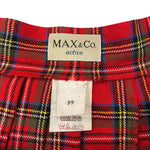 Load image into Gallery viewer, Max&Co Pleated Red Mini Skirt