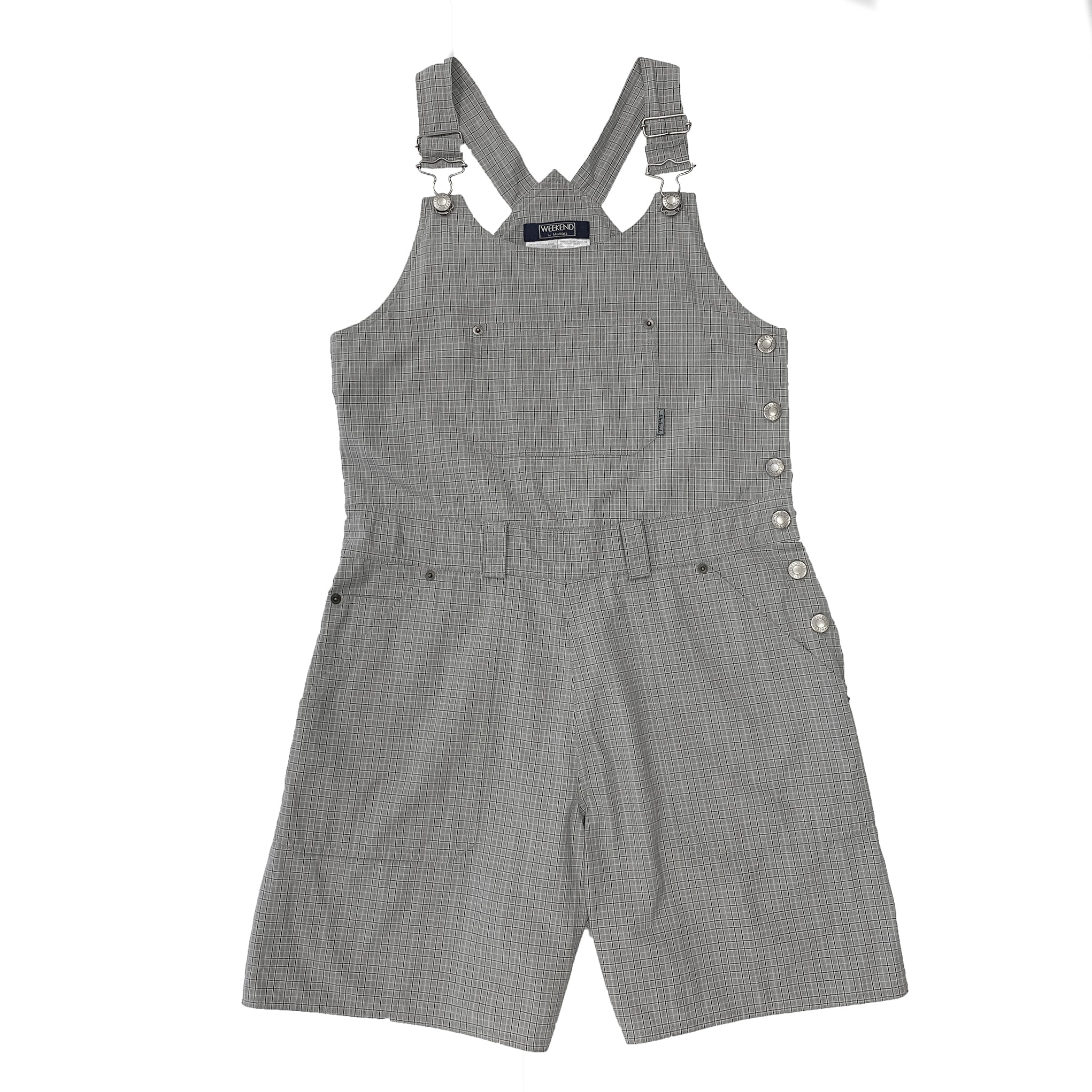 Weekend by MaxMara Checkered Gray Romper Jumpsuit