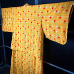 Load image into Gallery viewer, Yellow Kimono Haori Set with Colorful Floral Prints