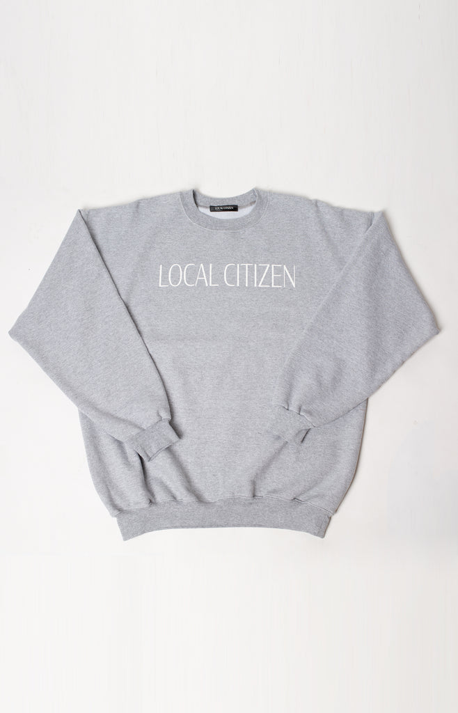 Logo Sport Crew in Stone Grey