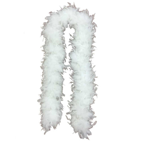 White Jumbo Feather Boas - FeatherBoaShop.com