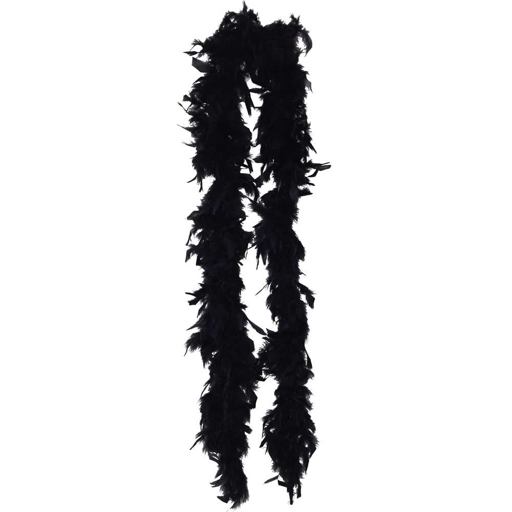 Lightweight Black Feather Boa - FeatherBoaShop.com