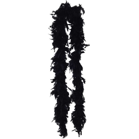 Black Lightweight Feather Boa - FeatherBoaShop.com