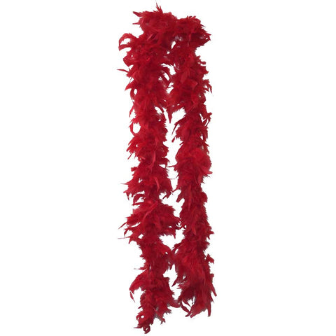 Red Lightweight Feather Boa - FeatherBoaShop.com