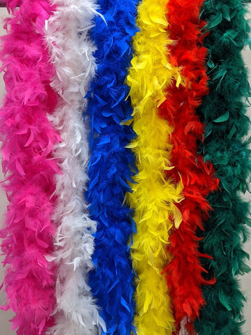Assorted Plush 6' 60 Gram Feather Boas