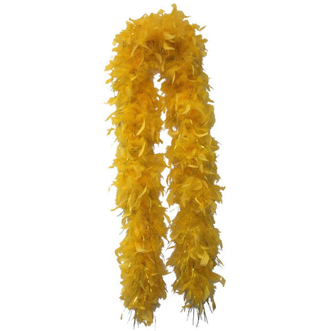 Gold Feather Boa (6` 60grams) - FeatherBoaShop.com