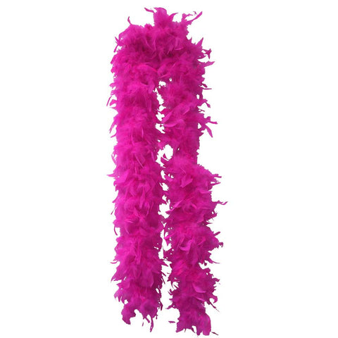 Hot Pink Feather Boa (6` 60 grams) - FeatherBoaShop.com