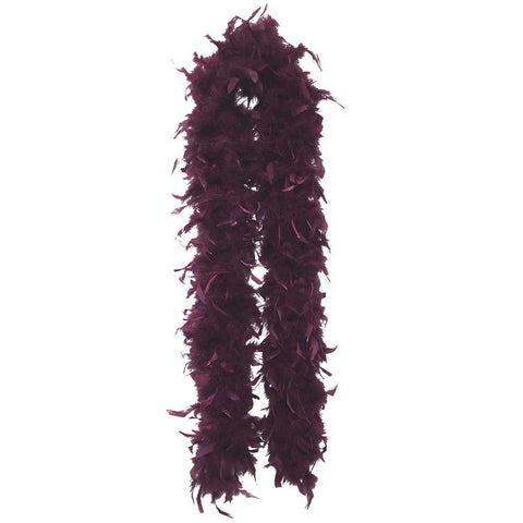 Maroon Plush Feather Boa - FeatherBoaShop.com