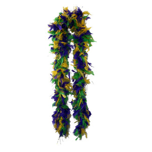 Mardi Gras Plush Feather Boa - FeatherBoaShop.com
