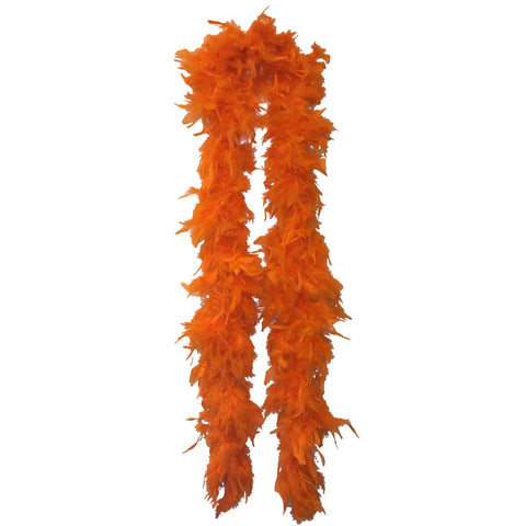 Orange Feather Boa (6` 60 grams) - FeatherBoaShop.com