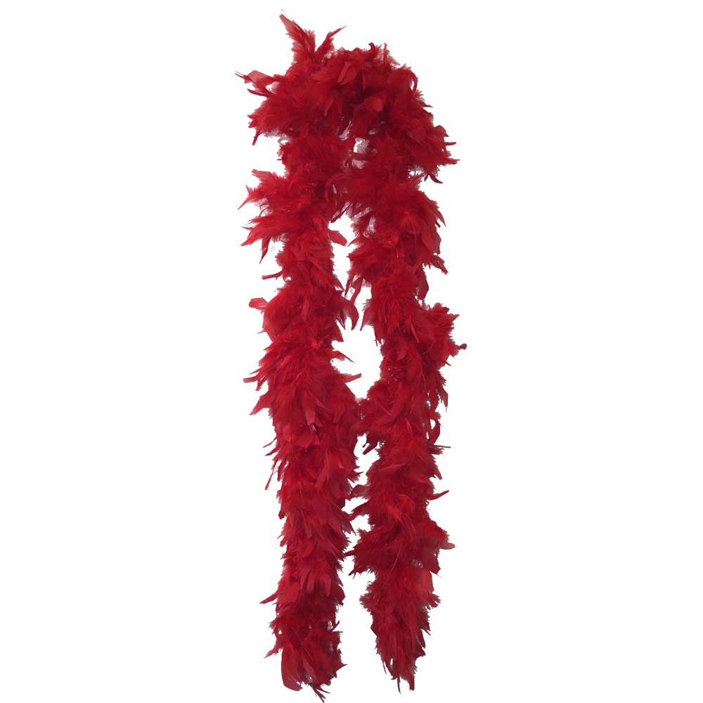 Red Feather Boa (6` 60 grams) - FeatherBoaShop.com