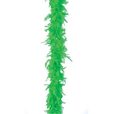 Green Lightweight  Feather Boa - FeatherBoaShop.com