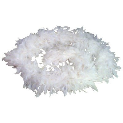 White Feather Boas 6` 60 grams - FeatherBoaShop.com