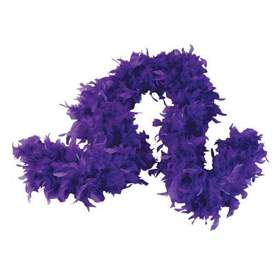 Purple Feather Boa (6` 60 grams) - FeatherBoaShop.com